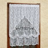 Cottage Garden Lace Swag Valance Pair 56 x 38