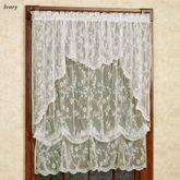 Cottage Garden Lace Insert Valance 56 x 13