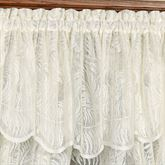 Palm Leaves Lace Insert Valance Ivory 56 x 18