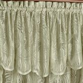 Palm Leaves Lace Insert Valance Sage 56 x 18
