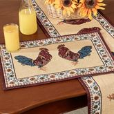 Rooster Rustica Placemats Multi Warm Set of Four