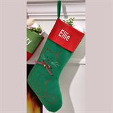 Christmas Cat Stocking Multi Warm