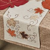 Fall Leaves Table Runner Natural 14 x 72