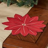 Pretty Poinsettia Placemats Red Set of Four