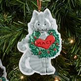 Gray Cat Holiday Ornament Multi Warm