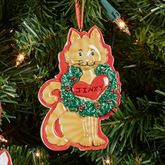 Tabby Cat Holiday Ornament Multi Warm