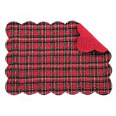 Hadley Plaid Rectangle Placemats Red Set of Four