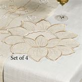 Spring Breeze Flower Shaped Placemats Almond Set of Four