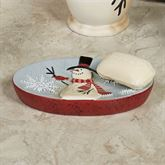 Tall Snowmen Soap Dish Blue