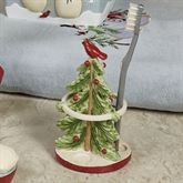 Tall Snowmen Tree Toothbrush Holder Green