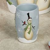 Tall Snowmen Tumbler Blue