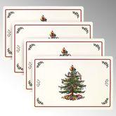 Spode Christmas Placemats Light Cream Set of Four