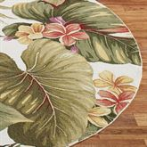 Paradise Haven Oval Rug Ivory 26 x 46 Oval