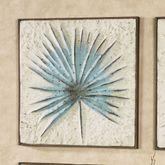 Blue Spiked Leaf Impression Wall Art Multi Cool