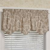 Avignon Rod Pocket Scalloped Valance 50 x 18
