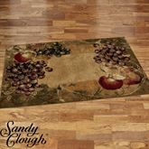 Tuscan Countryside Rectangle Rug Multi Earth