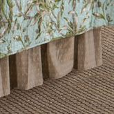 Barbados Sea Gathered Bedskirt Brown