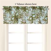 Barbados Sea Tailored Valance Spring Green 72 x 15.5