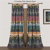 Black Bear Lodge Curtain Pair Multi Warm 84 x 84