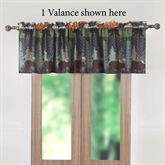 Black Bear Lodge Valance Multi Warm 84 x 19