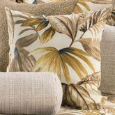 Tahiti Tropical Tailored Pillow Multi Warm 18 Square