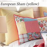 Sunny Patch Solid Color Piped Sham Multi Bright European