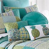 Riptide Patch Patchwork Tufted Pillow Multi Cool 18 Square
