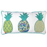 Riptide Patch Quilted Pillow Multi Cool Rectangle
