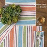 Sven Stripe Table Runner Multi Pastel 13 x 72