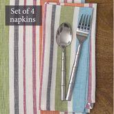 Sven Stripe Napkins Multi Pastel Set of Four