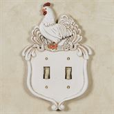 Le Chanticleer Double Switch Handpainted Ivory