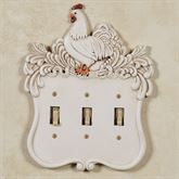 Le Chanticleer Triple Switch Handpainted Ivory