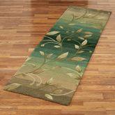 Ombre Leaf Rug Runner Sage 26 x 8