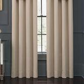 Abrielle Wide Tailored Curtain Pair Vanilla 100 x 84