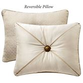 Anora Reversible Tufted Pillow Light Cream Rectangle