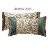 Anora Reversible Fringed Pillow Light Cream Rectangle