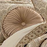Sardinia Tufted Pillow Dark Beige Round