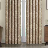 Sardinia Wide Tailored Curtain Pair Dark Beige 100 x 84