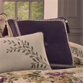 Floral Grace Tasseled Tufted Pillow Plum 18 Square