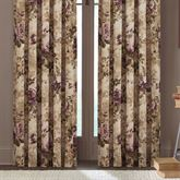 Floral Grace Wide Tailored Curtain Pair Plum 100 x 84
