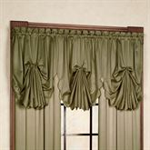 Concord Satin Fan Valance  30 x 40