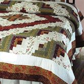 Log Cabin Quilt Multi Warm