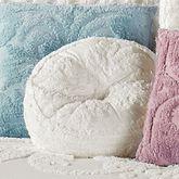 Allure Drum Pillow Cream Round