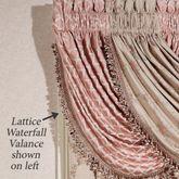 Floral Trellis Lattice Waterfall Valance