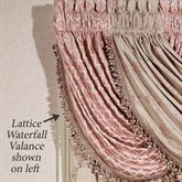 Floral Trellis Lattice Waterfall Valance