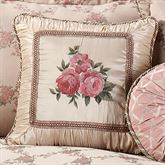 Floral Trellis Piped Square Pillow
