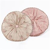 Floral Trellis Piped Round Pillow