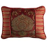 Lorenza Piped Rectangle Pillow Dark Red
