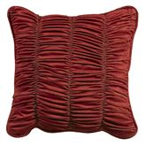Lorenza Piped Square Pillow Dark Red 18 Square