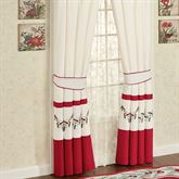Holly Wreath Tailored Curtain Pair Ivory 96 x 84